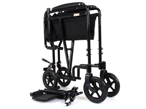 Aluminium Transit Wheelchair Folded