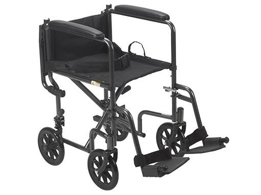 Bariatric Steel Transit Wheelchair Folded Back