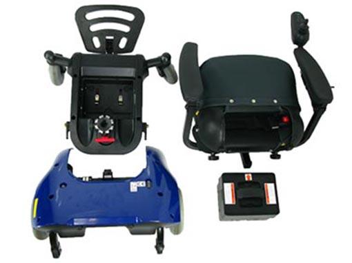 Easi Go Electric Wheelchair Apart