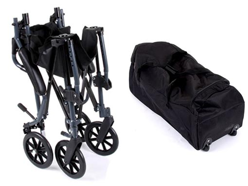 Fold and Go Transit Wheelchair with Bag