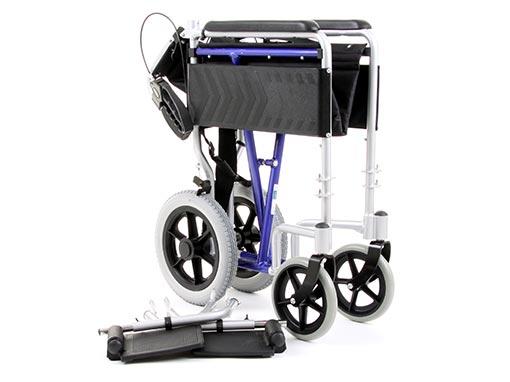 Aluminium Traveller Wheelchair front image