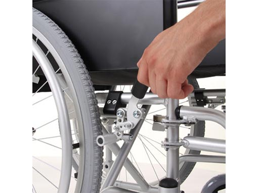 enigma lightweight wheelchair side image